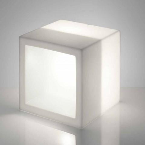 Cube świecąca półka Slide Open Cube nowoczesna konstrukcja wykonana we Włoszech