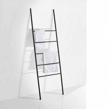 Drabinka na ręczniki w nowoczesnym stylu z białego lub czarnego metalu - Oppalà