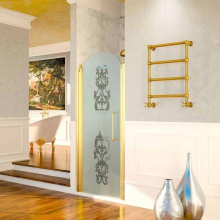 Elektryczny podgrzewacz do ręczników Scirocco H Caterina złoty w mosiądzu, design
