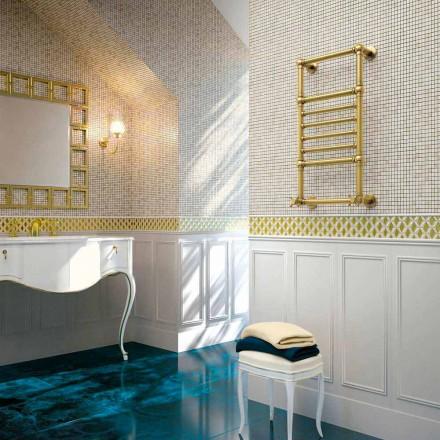 Elektryczny podgrzewacz do ręczników Scirocco H Amira ze złotym mosiądzem wyprodukowany we Włoszech