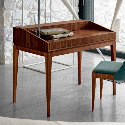Nowoczesny design biurko z drewna orzechowego, W 105 x D 65 cm, Acario