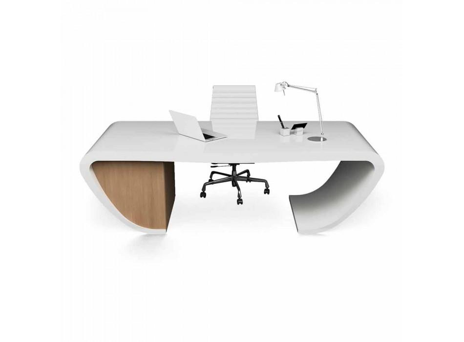 Biurko o nowoczesnym wzornictwie biurowym produkowane we Włoszech, Miranda