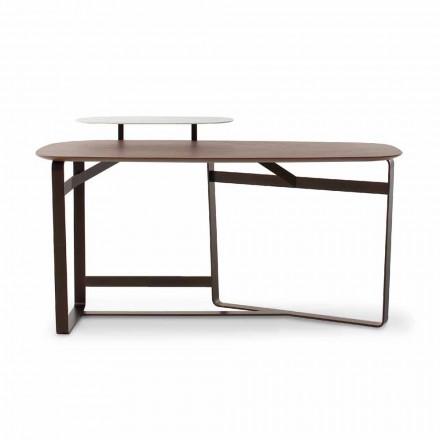Nowoczesne biurko z drewna, metalu i ceramiki Made in Italy - Bonaldo Gauss