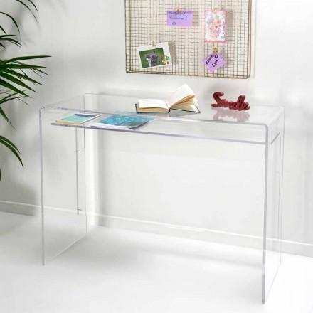 Nowoczesne biurko w przezroczystej pleksi wyprodukowanej we Włoszech, Barga