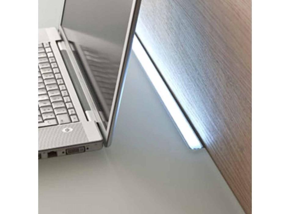 Biurko podwieszane z kryształu z metalową konstrukcją Made in Italy - Silicon