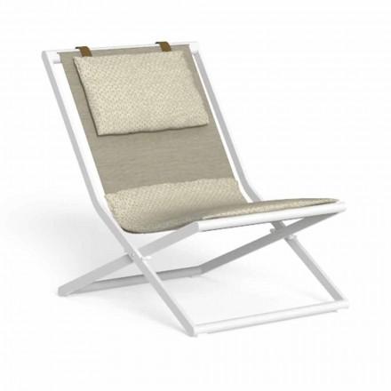 Leżak ogrodowy z aluminium i tkaniny z poduszkami - Riviera by Talenti