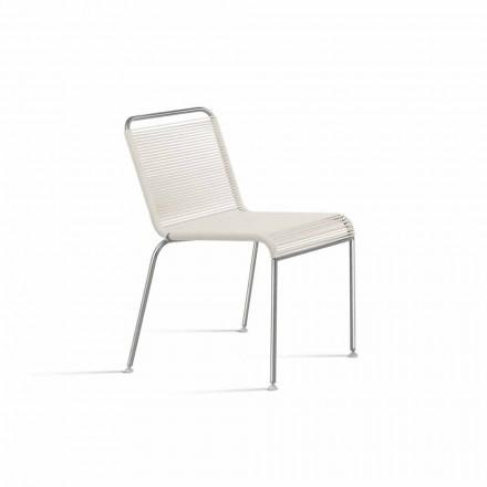 Krzesło do projektowania na zewnątrz ze stali i PVC Made in Italy - Madagaskar