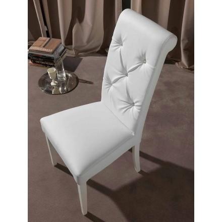 Klasyczne krzesło z czernicą i diamentami - Diana