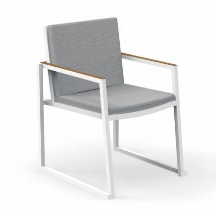 Krzesło ogrodowe z podłokietnikami z aluminium i tkaniny - Alabama Alu firmy Talenti