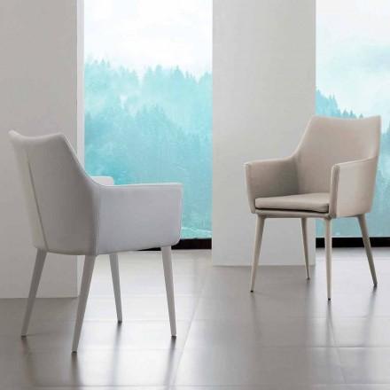 Krzesło Carlina z podłokietnikami, tapicerka z ekoskóry
