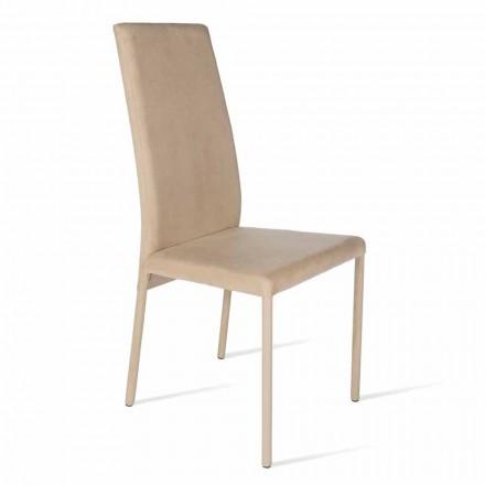 Krzesło z wysokim oparciem design Becca, made in Italy