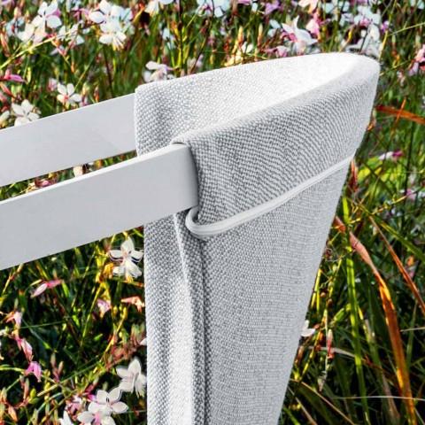 Krzesło ogrodowe z poduszką lub bez, aluminiowe wykończenia 3 - Filomena