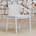 Aluminiowe krzesło ogrodowe z poduszką lub bez, wysokiej jakości, 4 szt. - Filomena