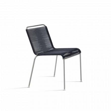 Zaprojektuj krzesło ogrodowe ze stali i sznurka Made in Italy - Madagascar1