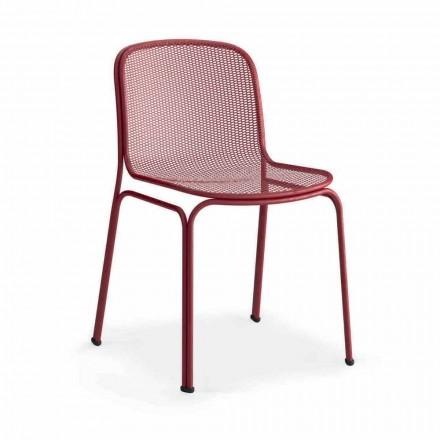 Metalowe krzesło do ustawiania w stosy Made in Italy, 4 sztuki - Prunella