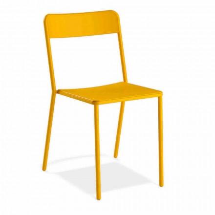 Metalowe krzesło do ustawiania w stosy Made in Italy, 4 sztuki - Xylia