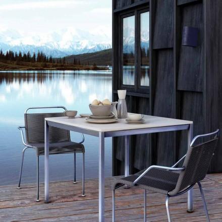 Krzesło ogrodowe ze stali z podłokietnikami i sznurkiem Made in Italy - Madagascar2