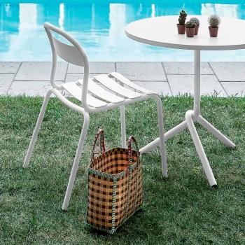 Aluminiowe krzesło do ustawiania w stosy Made in Italy, 4 sztuki - Ulyssa