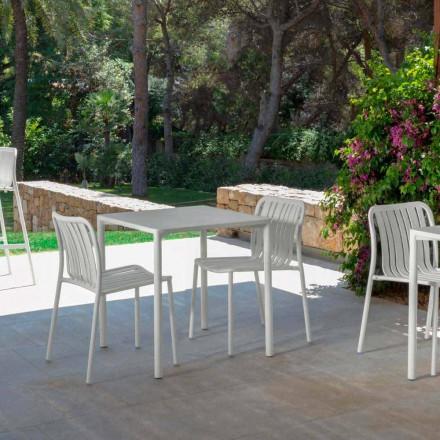 Trocadero nowoczesne krzesło do sztaplowania firmy Talenti, wykonane z aluminium