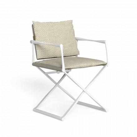 Krzesło reżyserskie składane na zewnątrz z luksusowymi podłokietnikami - Riviera by Talenti