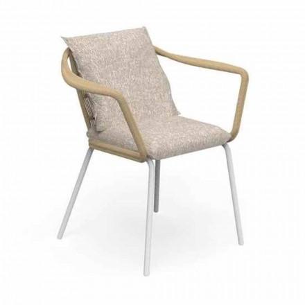 Krzesło ogrodowe w nowoczesnym stylu z aluminium i tkaniny - Cruise Alu Talenti
