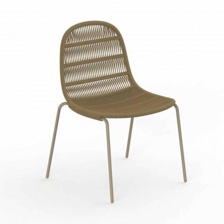 Nowoczesne krzesło ogrodowe z aluminium i tkaniny - Panama od Talenti