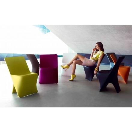 Krzesło ogrodowe Sloo firmy Vondom, nowoczesny design z polietylenu