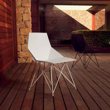 Nowoczesne krzesło Faz z kolekcji Vondom, polipropylen i stal nierdzewna, 4 sztuk