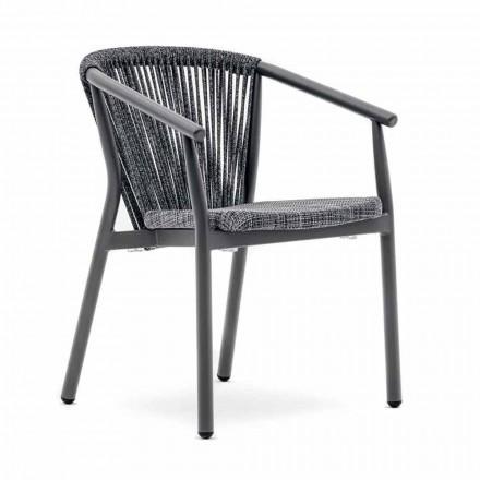 Krzesło ogrodowe do ustawiania w stos z aluminium i tkaniny technicznej - Smart By Varaschin