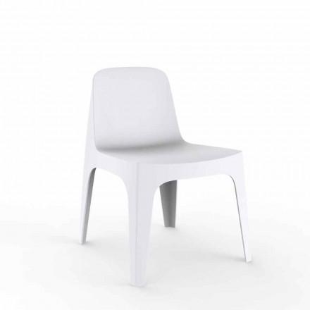 Fotel ogrodowy Solid firmy Vondom, polipropylen z dodatkami mineralnymi, 4 sztuk