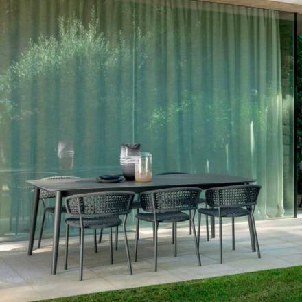 Krzesło ogrodowe Moon Alu marki Talenti, z aluminiowym i syntetycznym sznurkiem