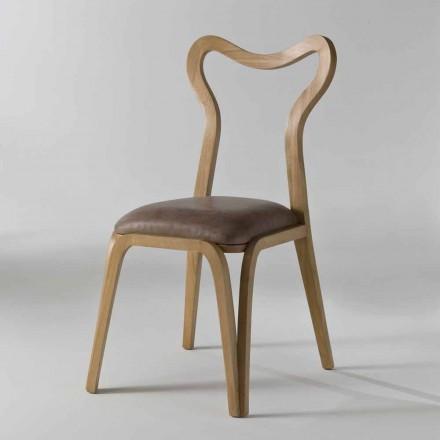 Krzesło nowoczesny design drewniano skórzany, 41x46cm Carol