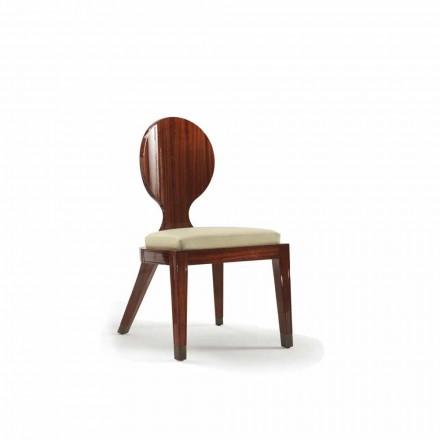 Krzesło drewniane tapicerowane design 51x53 cm model Nicole