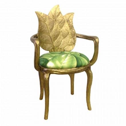 Krzesło do jadalni tapicerowane złote nowoczesny design, Daniel