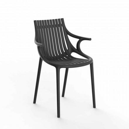 4-częściowe krzesło do jadalni z polipropylenu do układania w stosy - Ibiza firmy Vondom