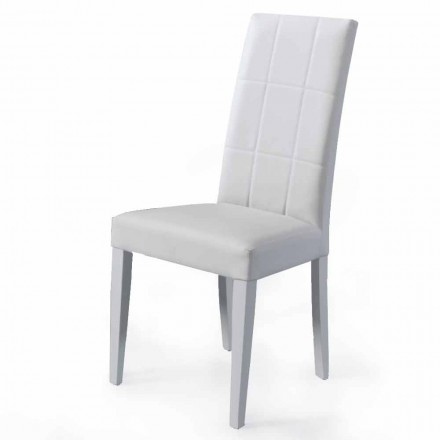 Tapicerowane krzesło do salonu z podstawą z buku Made in Italy, 4 sztuki - Fermali