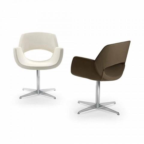 Białe krzesło biurowe Michelle z ekoskóry