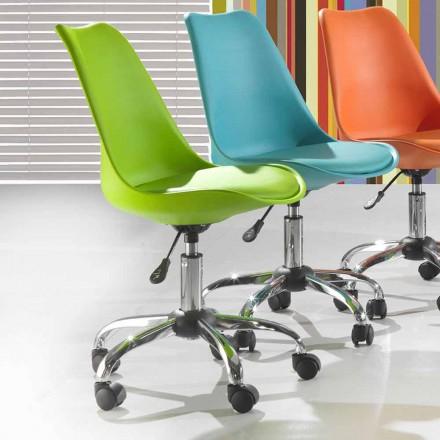 Krzesło biurowe z kolorowego polipropylenu i metalu - Loredana