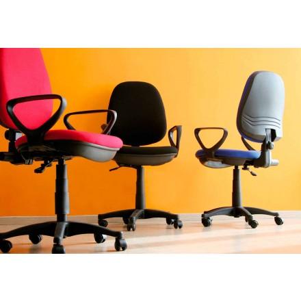 Ergonomiczne obrotowe krzesło biurowe z podłokietnikami w tkance - Concetta