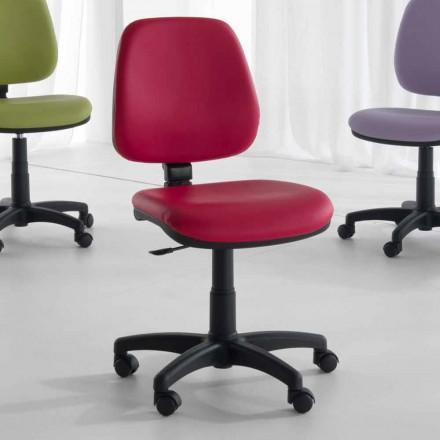 Obrotowe i ergonomiczne krzesło biurowe z tkanek i ekoskóry - Danila