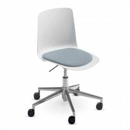 Krzesło biurowe z aluminium i polipropylenu Wykonane we Włoszech, 2 sztuki - Charita