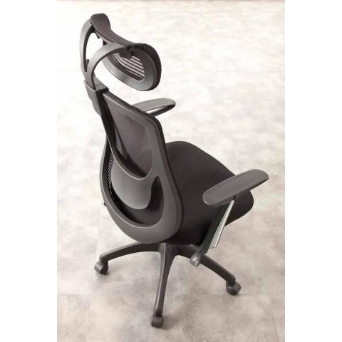 Krzesło biurowe i półkierunkowe w kolorze czarnym Tecnoete - Gerlanda