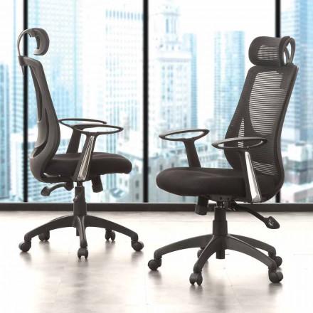 Kierunkowe i operacyjne czarne krzesło biurowe - Gerlanda