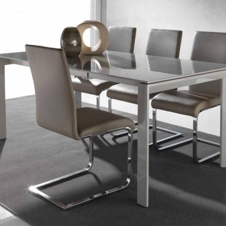 Nowoczesne krzesło do jadalni Sweet z metalową ramą
