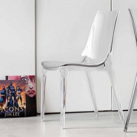 Krzesło o nowoczesnym designie, całkowicie z poliwęglanu - Gilda