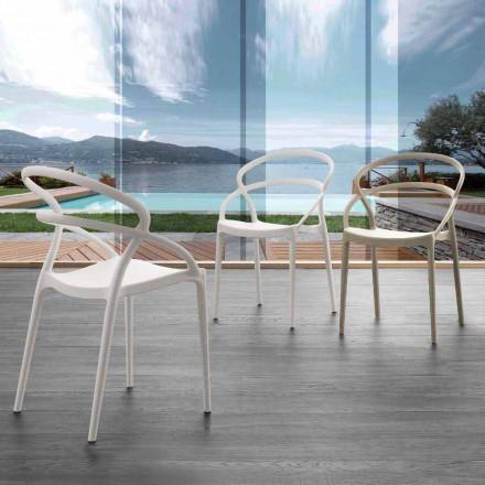 Krzesło Pavia o nowoczesnym designie z polipropylenu, różne kolory