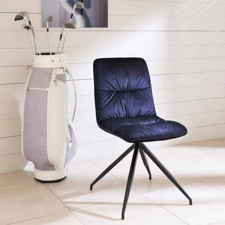 Nowoczesne krzesło tapicerowane tkaniną Chiara