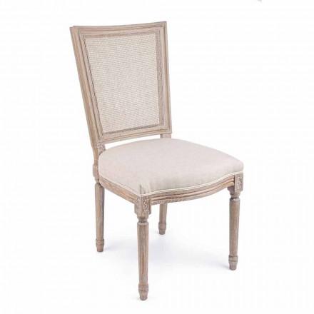 Klasyczne krzesło z drewnianą konstrukcją 2 sztuki Homemotion - Murea