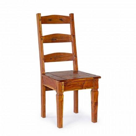 Klasyczne krzesło z litego drewna akacjowego Homemotion - Moritz