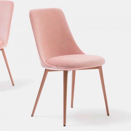 Krzesło designerskie z tkaniny i metalu Made in Italy - Itala
